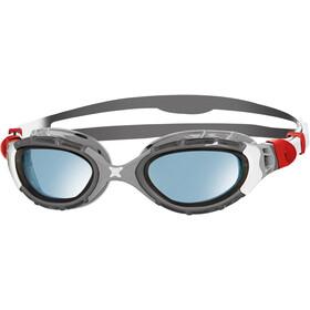 Zoggs Predator Flex Goggles L silver/grey/blue tint